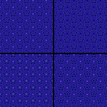 set of star patterns Vector