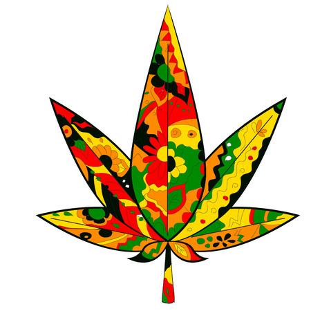rastafarian: marijuana leaf in Rastafarian colors