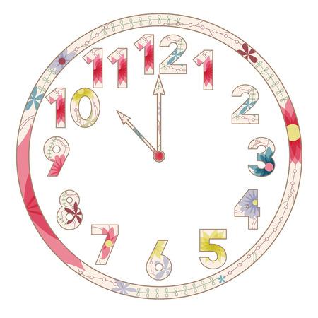 12 o'clock: Vintage clocks Illustration
