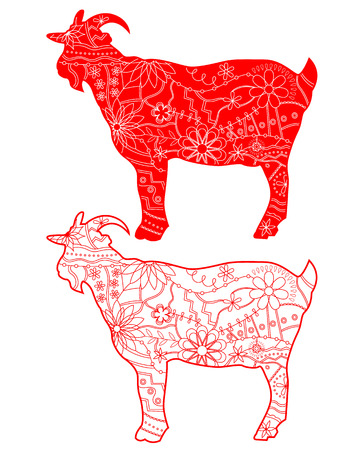 chineese: Red goats