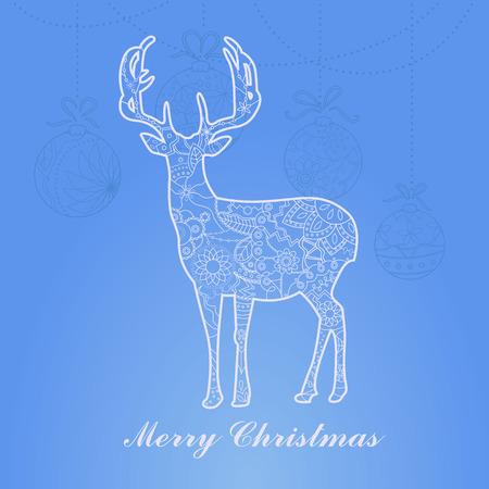 design design elemnt: Merry christmas deer