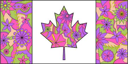 Colorful Flagge von Kanada Standard-Bild - 30643920