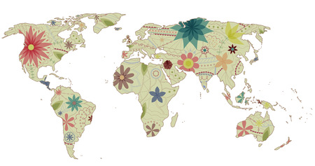 multiply: World map vintage 2