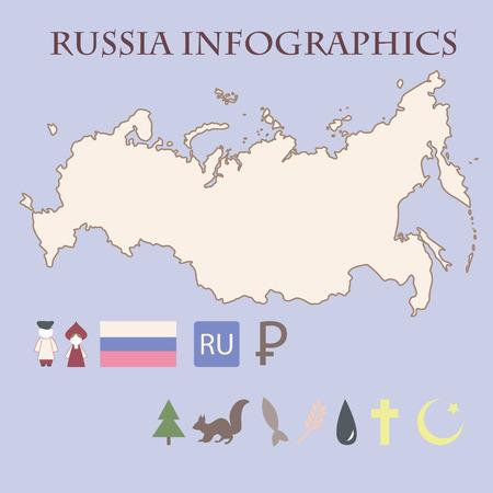 Russian infographics Vector