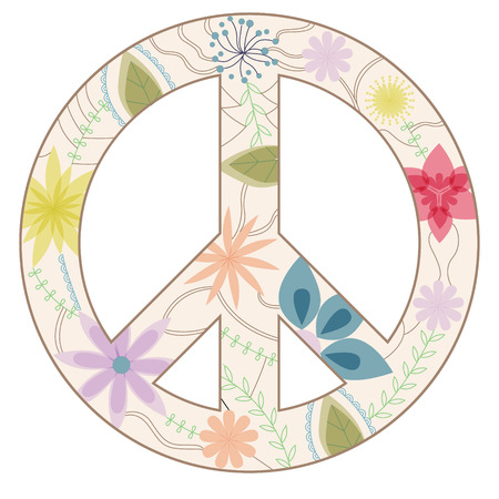 multiply: Peace sign vintage