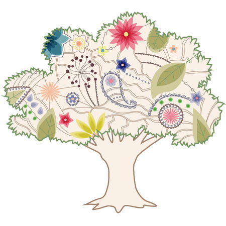 sillhouette: Vintage tree Illustration