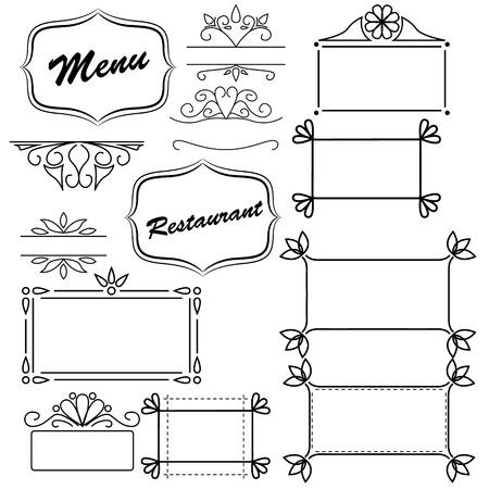 Design element for menu Vector