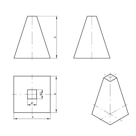truncated: Truncated pyramid Illustration