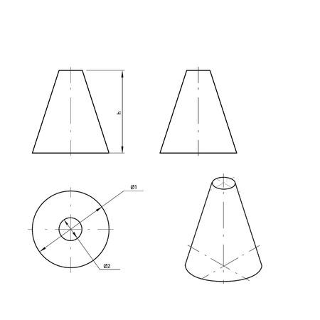 diameter: Frustum Illustration