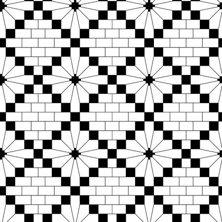 crotchet: black knitting seamless pattern