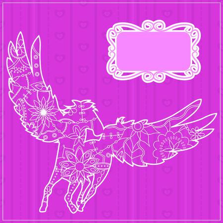 backdrop: Vector pink backdrop with pegasus