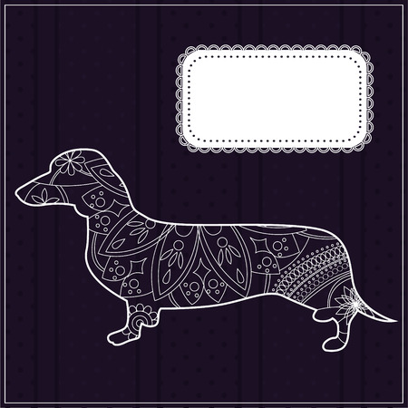 dachshund: dachshund background Illustration