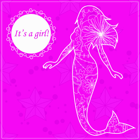 its: its a girl card with mermaid