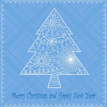 christmas plaid: christmas tree background