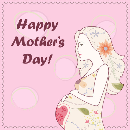 tender: Vector card Happy Mothers Day