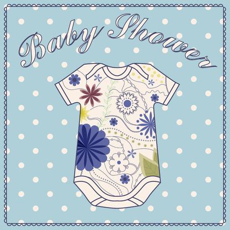 Vector baby shower corps wath vêtements Banque d'images
