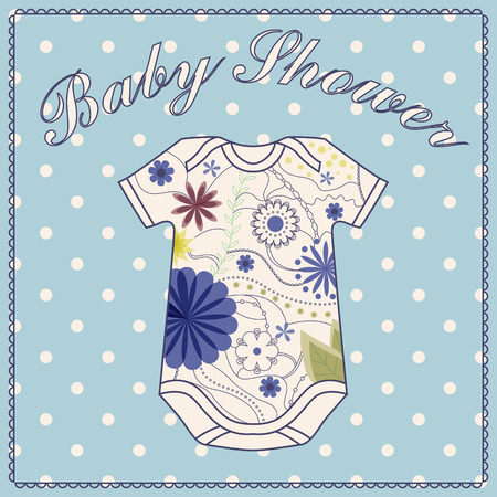 baby clothing: Vector baby shower wath body clothing