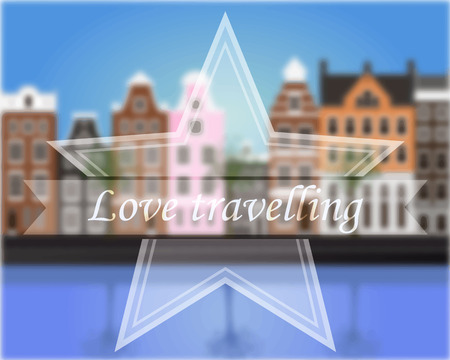 amsterdam: Vector background with blur Amsterdam