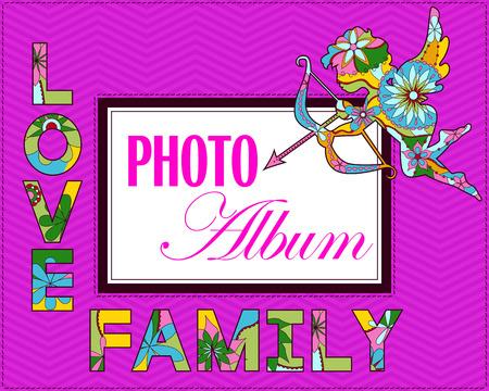 desig: Vector family weddng album cover