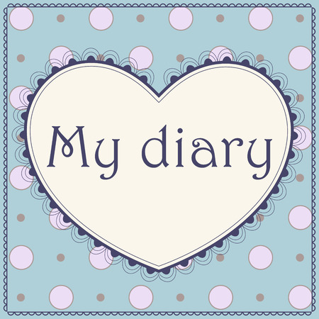 diary: Vector cover page of diary Illustration