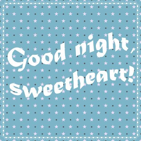 Vector vintage fond bleu bonne nuit