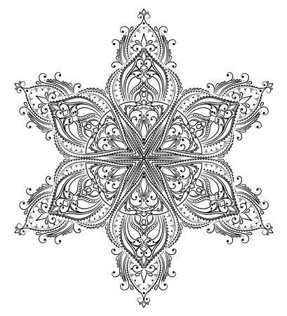 Vector Färbung Mandala Standard-Bild - 51908360