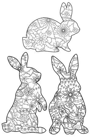 Vector set colorants rbbits Vecteurs