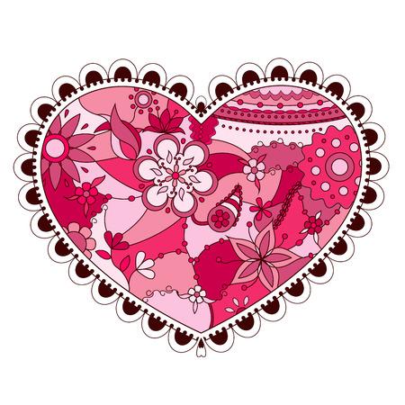 silhoette: Vector colorful heart Illustration