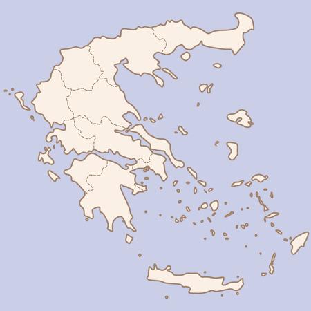 contour: vector Greece contour map