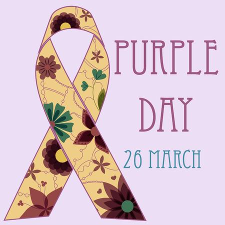 epilepsy: purple day background retro