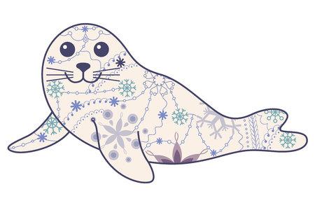 pup: Vector seal pup vintage