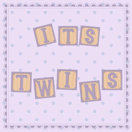 twins: Vector its twins card with cubs