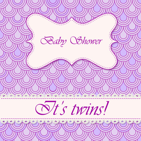 twins: Vector baby shower flake background twins