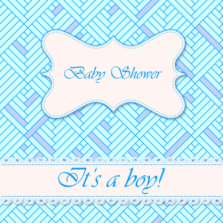 baby blue: Vector baby shower abstract background boy