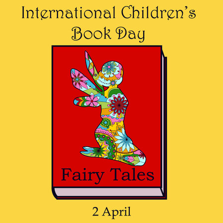 childrens book: Vector childrens book day with fairy