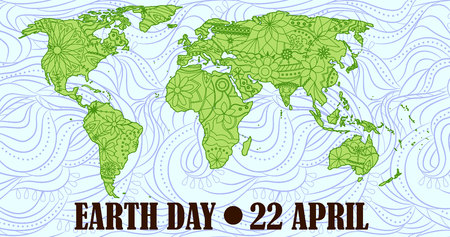earth day: Vector Earth day background Illustration