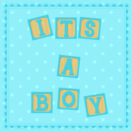 cubs: Vector its a boy card with cubs