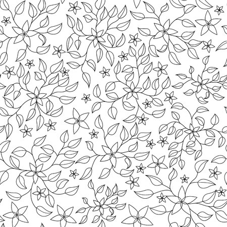 antistress: Vector coloring antistress with  flowers Illustration