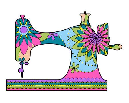 Wektor kolorowe maszyny do szycia Ilustracje wektorowe