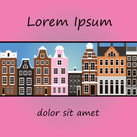 amsterdam: Vector Amsterdam background colorful Illustration