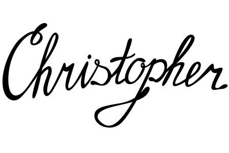 christopher: Vector Christopher name lettering