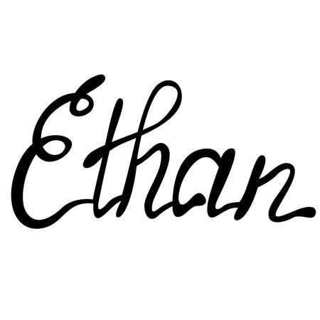 ethan: Vector Ethan name lettering Illustration