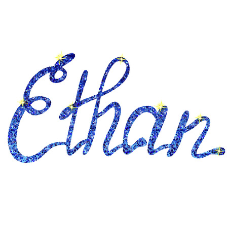 ethan: Vector Ethan name lettering tinsels