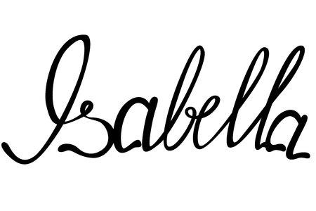 isabella: Vector Isabella name lettering