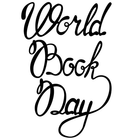 Vector lettering world book day