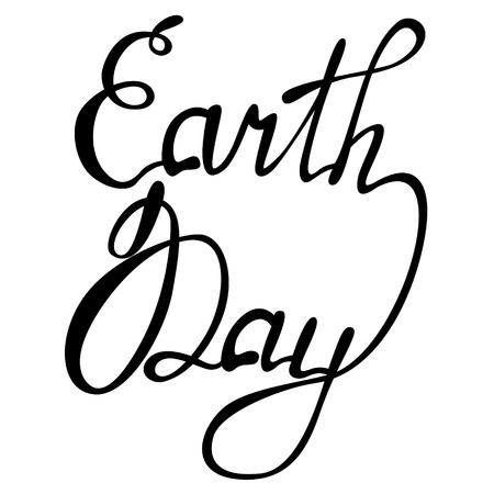 earth day: Vector lettering Earth day