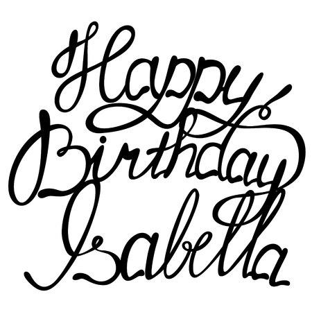 isabella: Vector happy birthday lettering Isabella