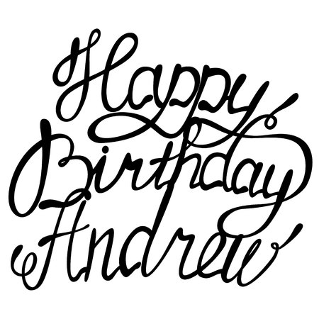andrew: Vector happy birthday lettering Andrew