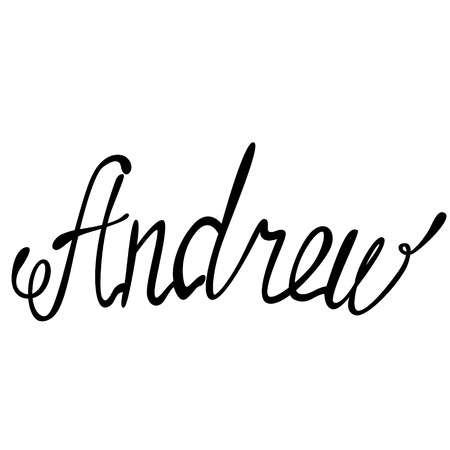 andrew: Vector Andrew name lettering Illustration
