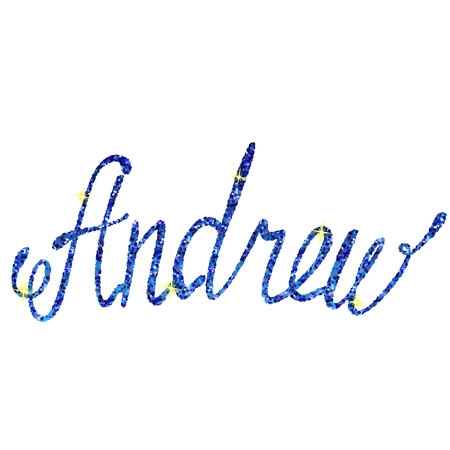 christopher: Vector Christopher name lettering tinsels Illustration